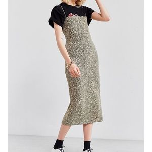 Urban Outfitters Straight Neck Midi Dress